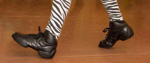 Dansschoenen in het theater